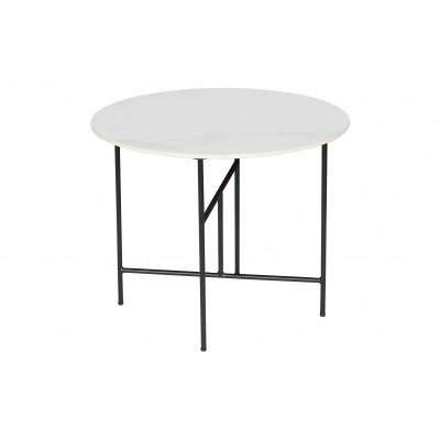 Kavos staliukas Vida su marmuro imitacija, 48x60 cm skersm. (balta)