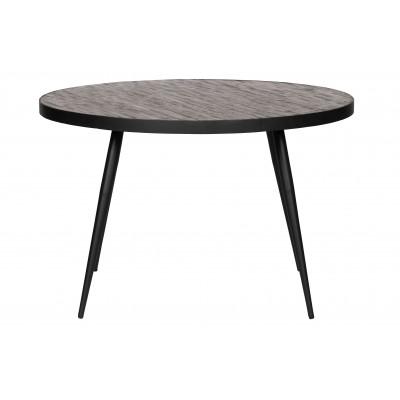 Valgomojo stalas Vic, 76x120 cm skersm., medis, metalas