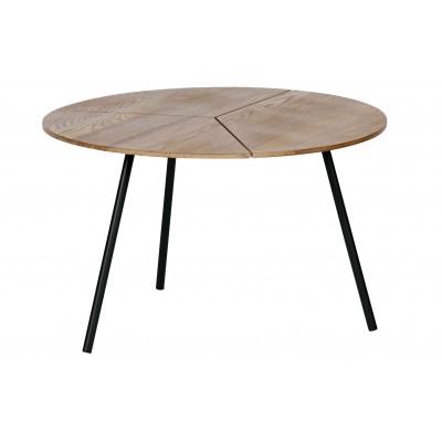 Kavos staliukas Rodi L, 38x60 cm skersm., medis, metalas (ruda)