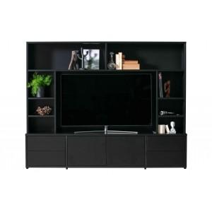 Televizoriaus spintelė Maxel, pušis (juoda)