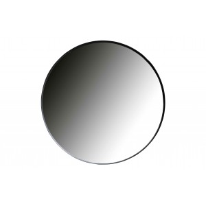 Apvalus metalinis veidrodis Doutzen, 115 cm skersm. (juoda)