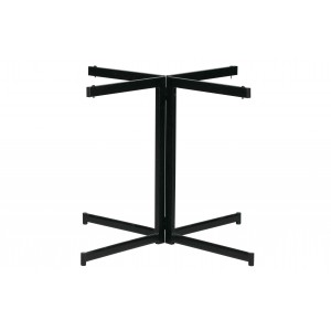 4 kojų kryžminė stalviršio atrama Cross, metalas (juoda)