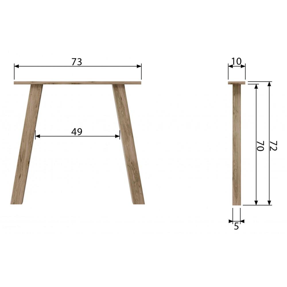 2 U formos stalviršio kojos, ąžuolas