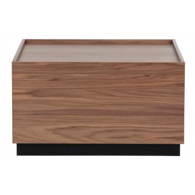 Kavos staliukas Block, pušis, 82x82 cm (riešutmedžio)