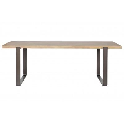 Valgomojo stalas Jamie su metalinėmis kojomis, 180x90 cm, ąžuolas