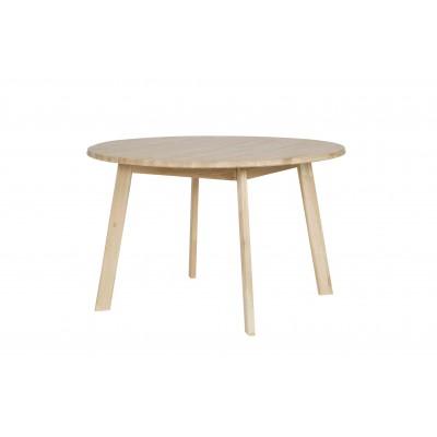 Valgomojo stalas Disc, 120 cm skersm., neapdorotas ąžuolas