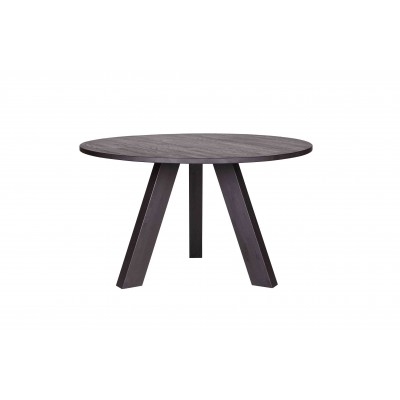 Valgomojo stalas Rhonda, 129 cm skersm. (juoda)