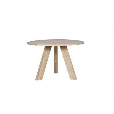 Valgomojo stalas Rhonda, 129 cm skersm., neapdorotas ąžuolas