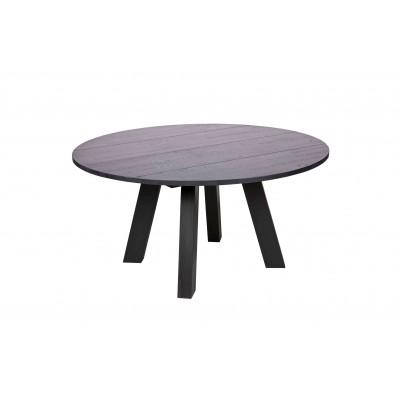 Valgomojo stalas Rhonda, 150 cm skersm., ąžuolas (juodas)