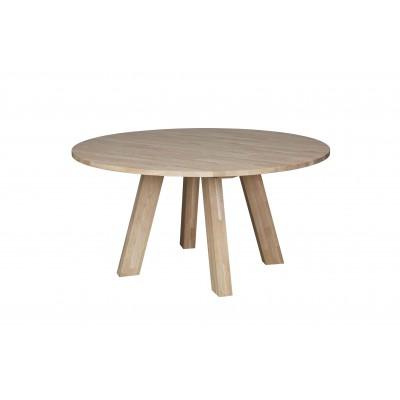 Valgomojo stalas Rhonda, 150 cm skersm., neapdorotas ąžuolas