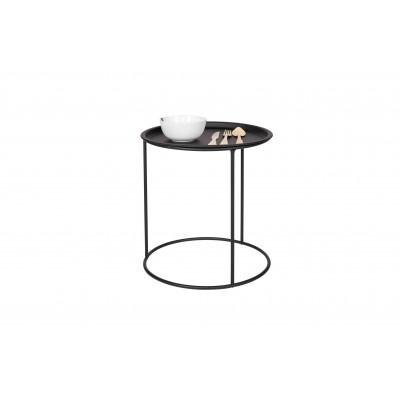 Kavos staliukas Ivar su atskiru vidutinio dydžio padėklu (juoda)