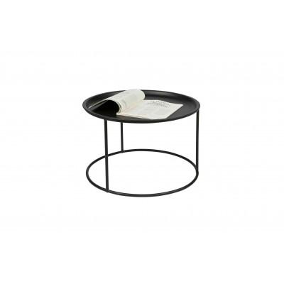 Kavos staliukas Ibar, didelis, 56 cm (juoda)