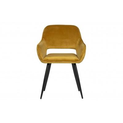Kėdė Jelle, velvetas (geltona), 2 vnt.