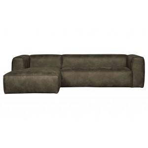 Kampinė sofa Bean, kairinė (rusvai žalsva)