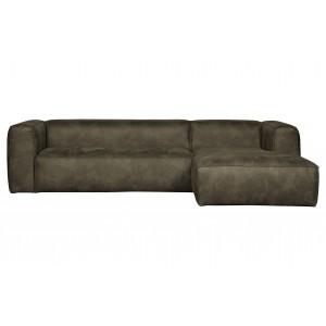 Kampinė sofa Bean, dešininė (rusvai žalsva)