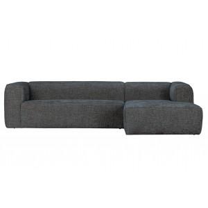 Kampinė sofa Bean Hefty, dešininė, melanžas (akmens)