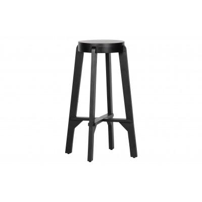 Medinė baro kėdė Inca (juoda)