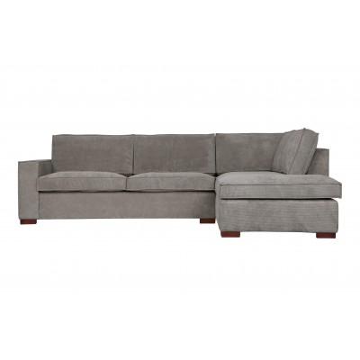Kampinė sofa Thomas, dešininė, kordinis velvetas (žalsvai pilka)