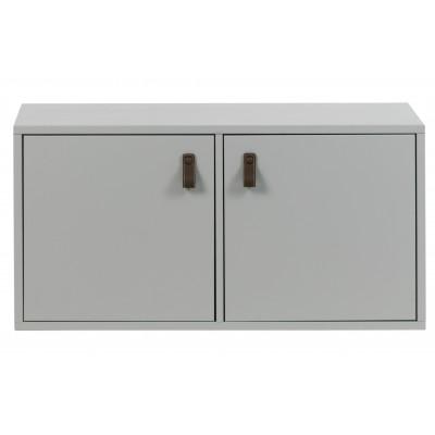 Dviejų durelių apatinė spintelė Vt, pušis (betono pilka)