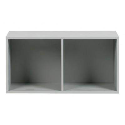 Dviejų atvirų skyrelių apatinė spintelė Vt, pušis (betono pilka)