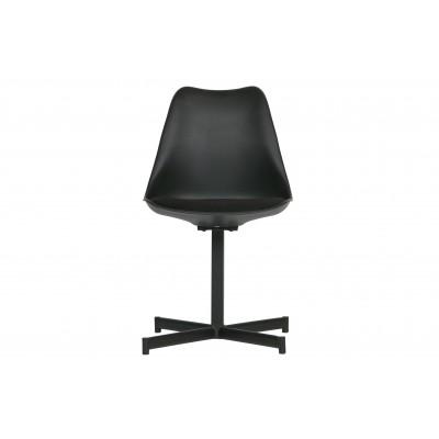 Valgomojo kėdė Flow (juoda) (2 dalių komplektas)