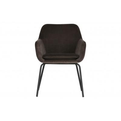 Valgomojo kėdė Mood, velvetas (antracito), 2vnt.