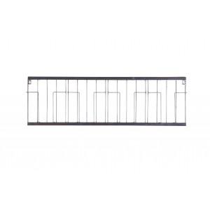 Metalinis žurnalų laikiklis Paper, 104x32 cm (juoda)