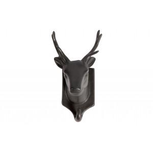 Viršutinių drabužių kabliukas-elnias Nona, porcelianas (juoda)