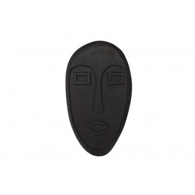 Medinė kaukė Xavi (juoda)