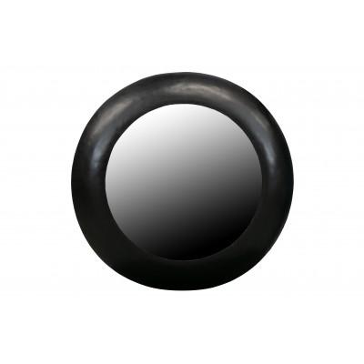 Apvalus veidrodis Wolf, 75 cm skersm., metalas (juoda)