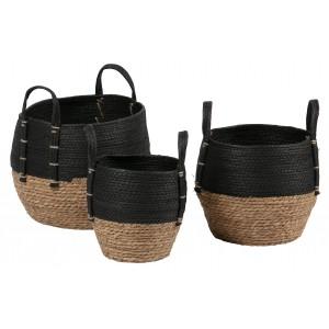 3 krepšiai Amara (natūrali / juoda)