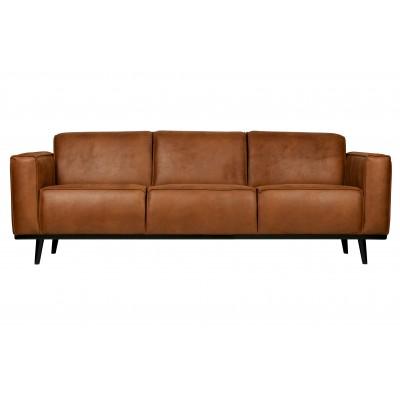 Trivietė sofa Statement, 230 cm, eko oda (konjako)