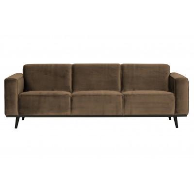 Trivietė sofa Statement, 230 cm, velvetas (šilta rusvai pilka)