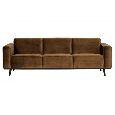 Trivietė sofa Statement, 230 cm, velvetas (medaus geltona)