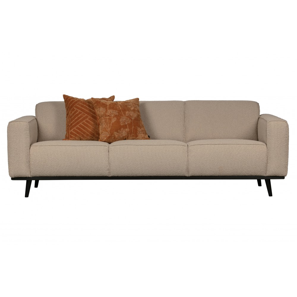 Trivietė sofa Statement, 230 cm, boucle audinys (smėlio)