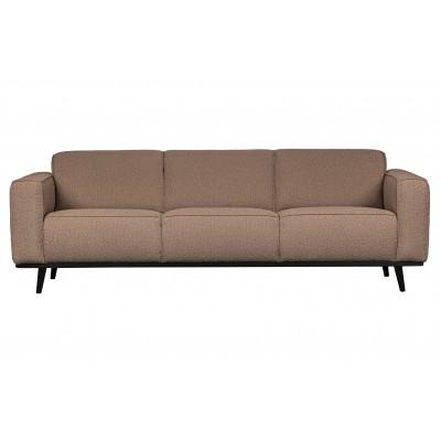 Trivietė sofa Statement, 230 cm, boucle audinys (pilkšvai ruda)