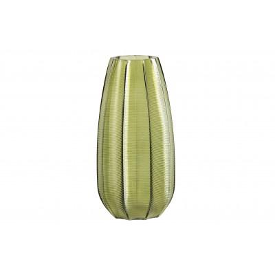 Stiklinė vaza Kali, 28x14 cm skersm., su lapų motyvais
