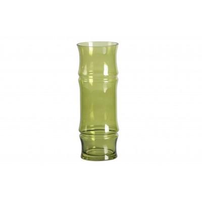 Stiklinė vaza Kane, 30x11 cm skersm., su lapų motyvais