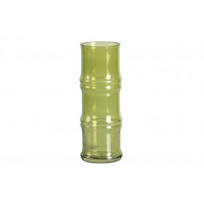 Stiklinė vaza Kane, 25x9 cm skersm., su lapų motyvais