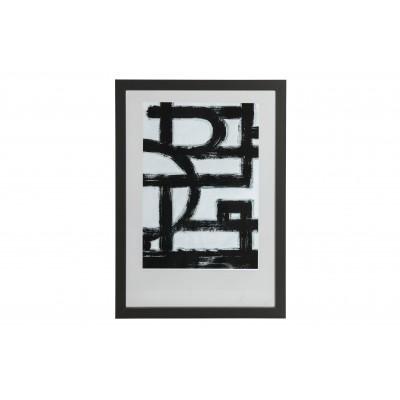 Medinis nuotraukos rėmelis Blake, 70x50 cm (juoda)