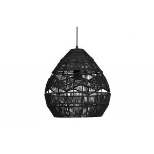 Pakabinamas šviestuvas Adelaide, 35 cm skersm. (juoda)