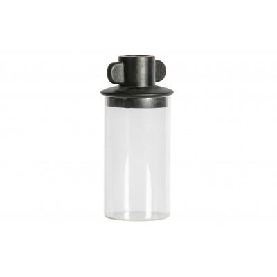 Stiklinis indas Gina, 24x11 cm skersm. (juoda)