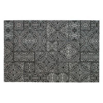 Kilimas Renna, 155x230 cm (juoda / balta)