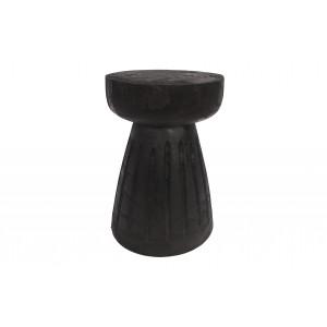 Kėdė Borre, 40x28 cm skersm., medis (juoda), 2 vnt.