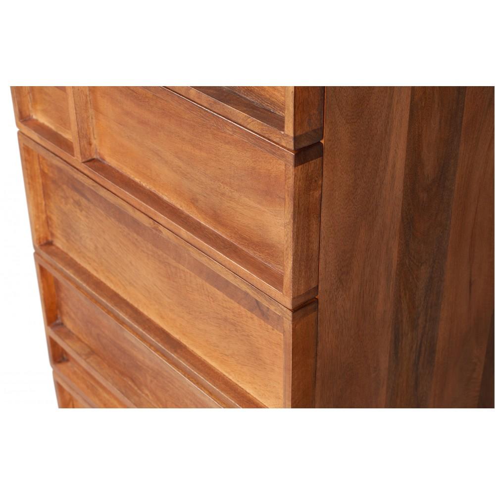 5 stalčių komoda Forrest (natūrali)