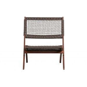 Sulankstoma kėdė Lois, medis (tamsiai ruda)