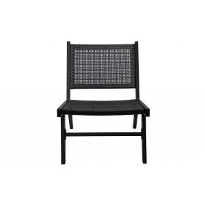 Fotelis Puk, aliuminis (juoda)