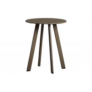 Kavos staliukas Fer,  40 cm skersm., metalas (rusvai žalsva)