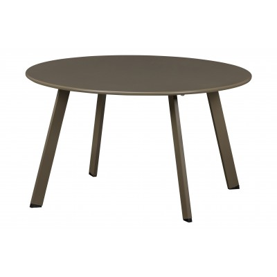 Kavos staliukas Fer, 70 cm skersm., metalas (rusvai žalsva)