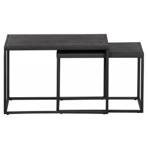 Šoniniai staliukai Febe, 2 vnt., metalas (juoda)